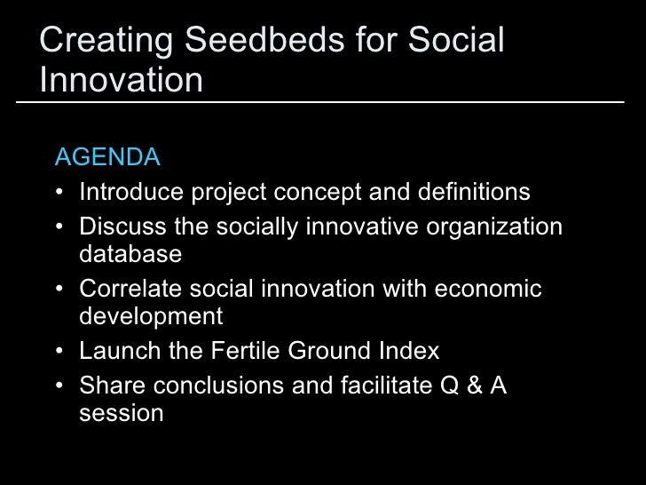 Creating Seedbeds for Social Innovation Slide 3