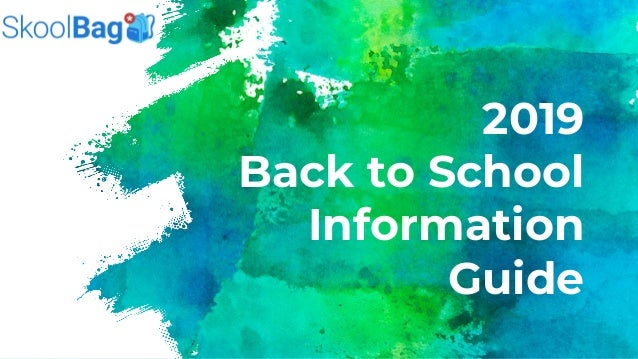 2019 Back to School Information Guide