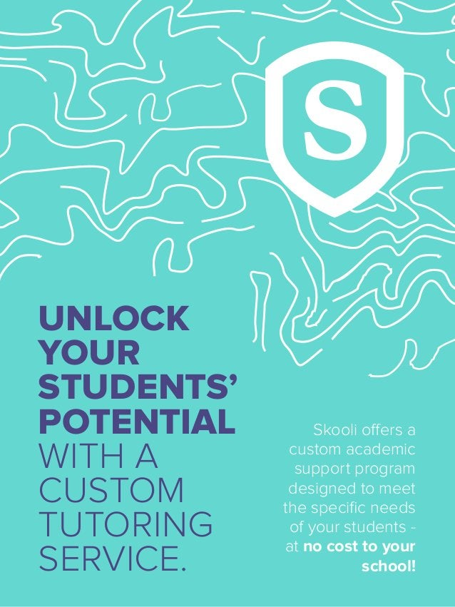 UNLOCK YOUR STUDENTS' POTENTIAL WITH A CUSTOM TUTORING SERVICE. Skooli offers a custom academic support program designed t...