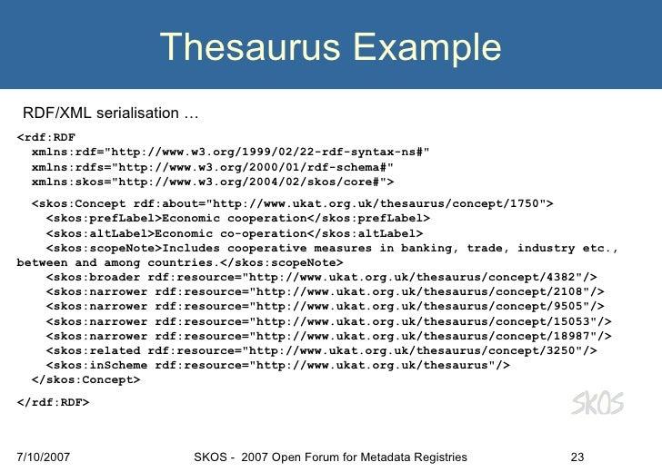 Example Thesaurus] Automatic Thesaurus Generation, Chambers ...