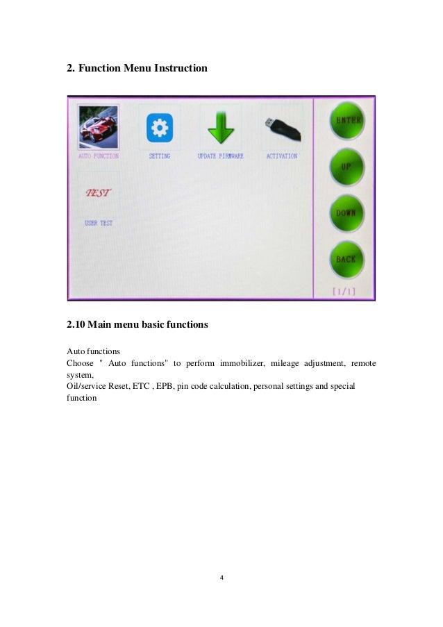 Skp1000 tablet key-programmer user manual - vobdii com