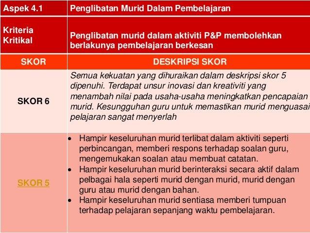 13Aspek 4.1 Penglibatan Murid Dalam PembelajaranKriteriaKritikalPenglibatan murid dalam aktiviti P&P membolehkanberlakunya...