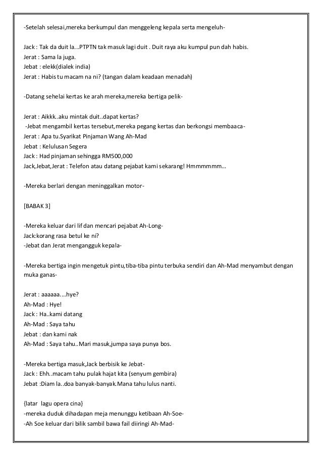 Skrip Drama Pendek Its All About Money