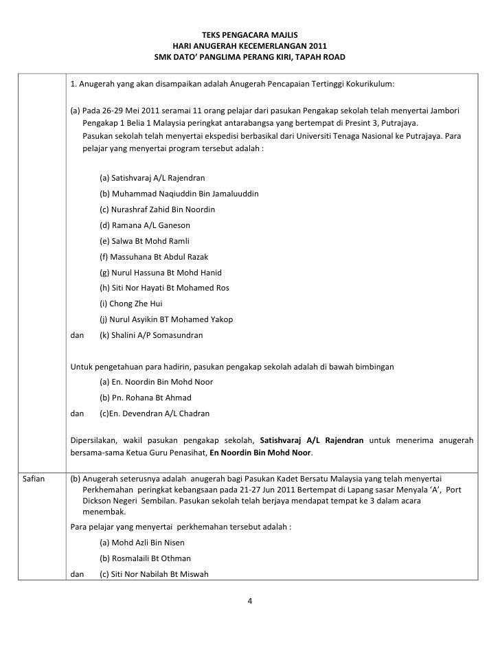 Skrip Hari Anugerah 2011 Pindaan