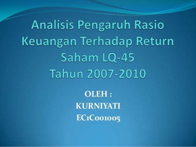 OLEH : KURNIYATI EC1C001005