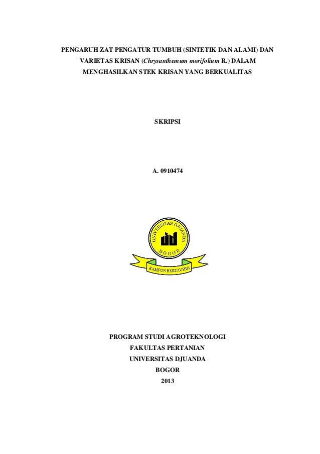 Skripsi Pertanian Agroteknologi Pdf Pejuang Skripsi