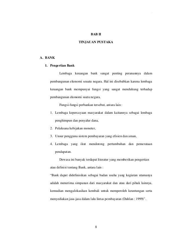Skripsi Analisis Kinerja Keuangan Pada Bank Syariah