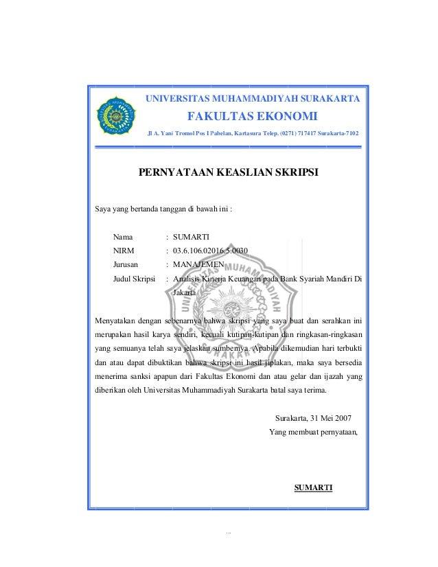 Skripsi Analisis Kinerja Keuangan Pada Bank Syariah | Loak ...