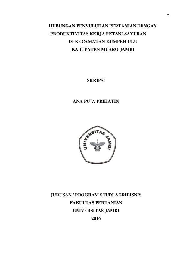 Contoh Skripsi Agribisnis Contoh Soal Dan Materi Pelajaran 2