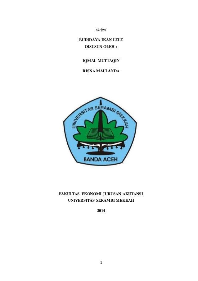 Contoh Skripsi Budidaya Ikan Lele