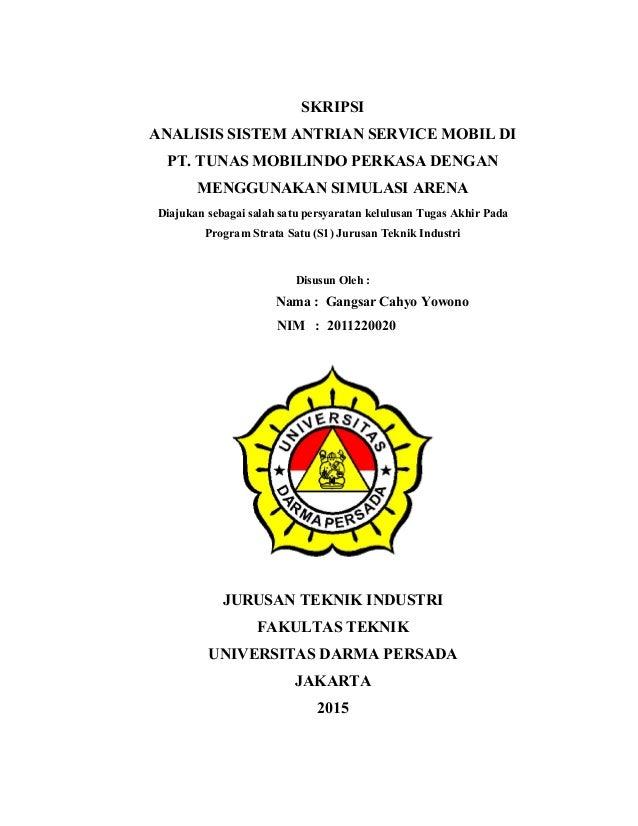 Analisis Sistem Antrian Service Mobil Di Pt Tunas Mobilindo Perkasa