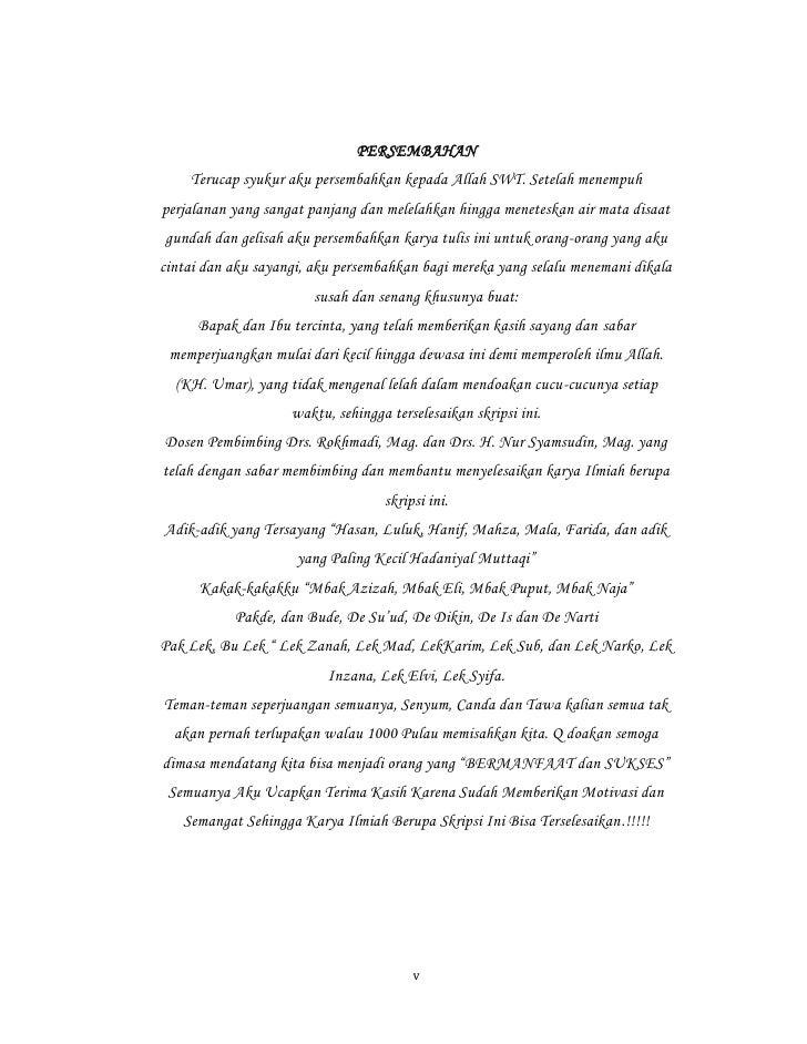Kata Persembahan Skripsi Untuk Orang Tua Dan Suami Kumpulan Berbagai Skripsi