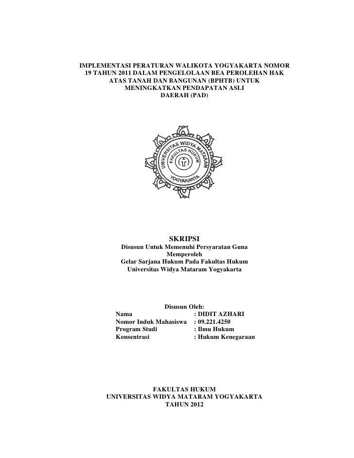 Skripsi Hukum Kenegaraan Di Fakultas Hukum Universitas Widya Mataram
