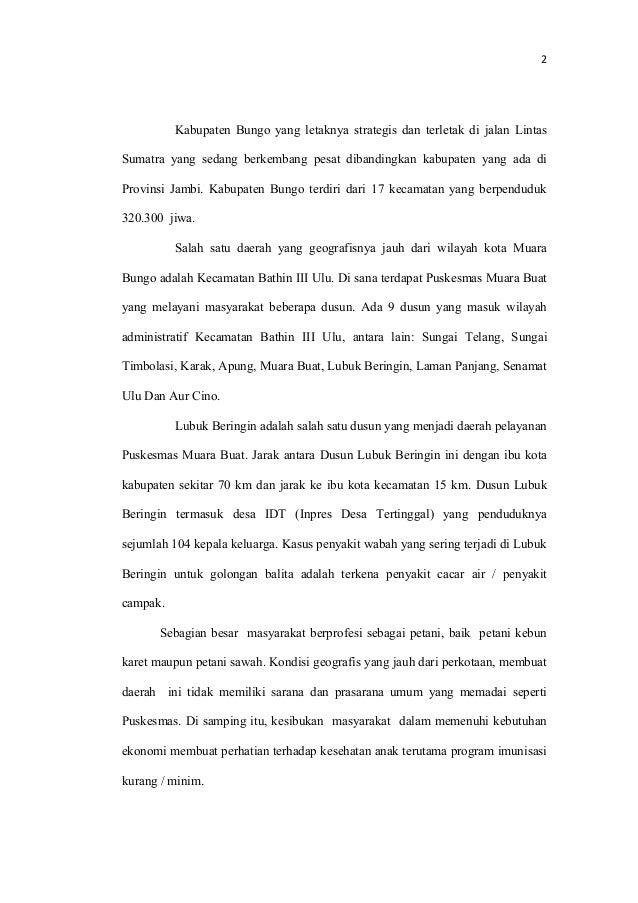 Contoh Skripsi Akbid tentang imunisasi  Slide 2