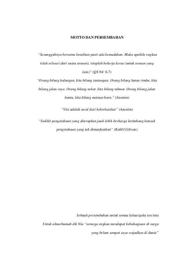 Contoh Lembar Persembahan Skripsi Contoh Soal Dan Contoh Pidato Lengkap