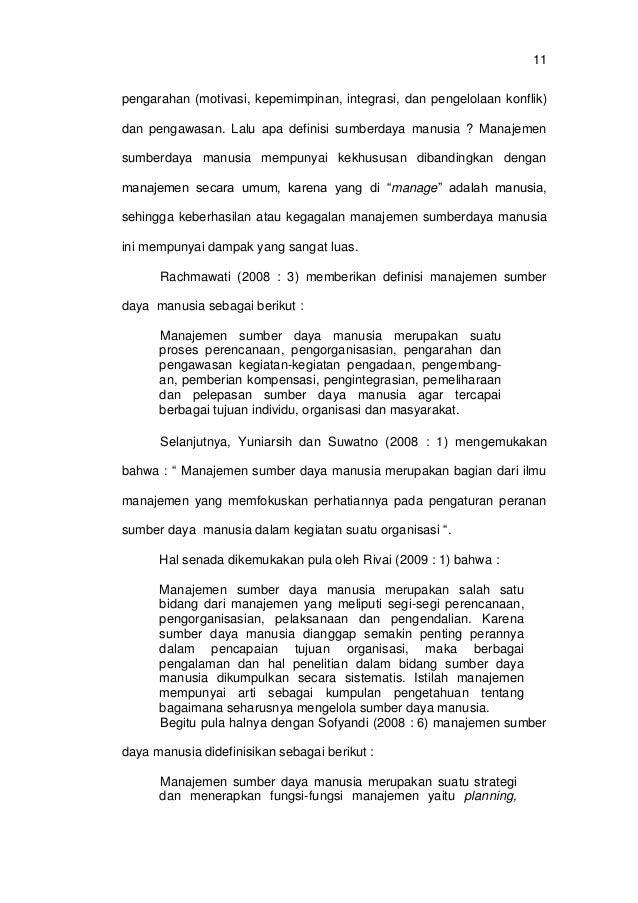 Skripsi Manajemen Sumber Daya Manusia Pdf