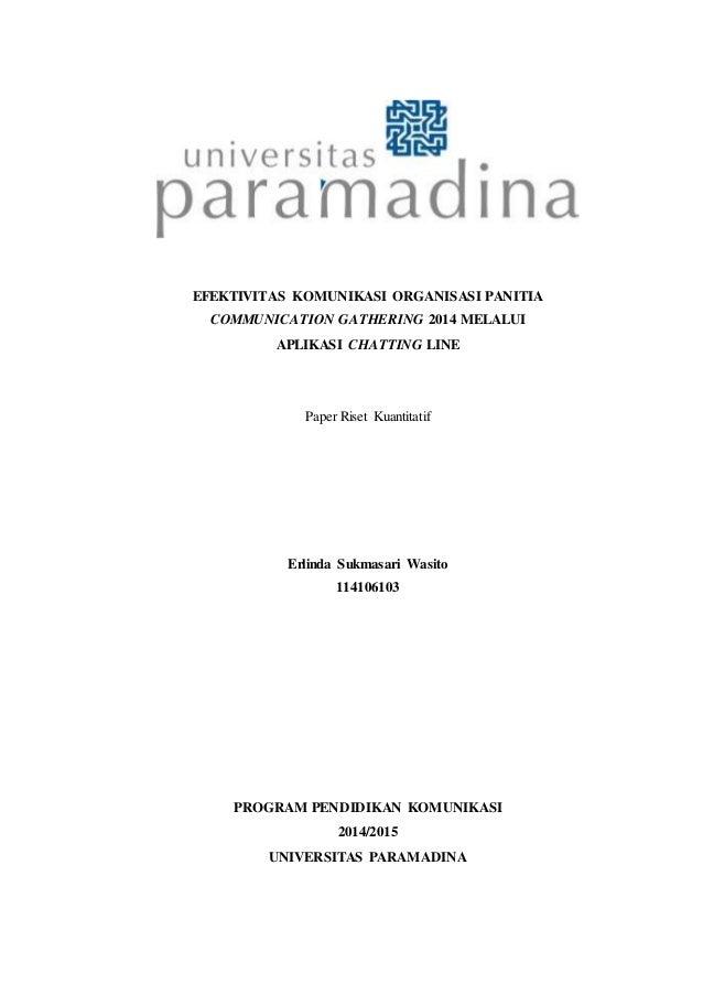 Contoh Skripsi Ilmu Komunikasi Kuantitatif