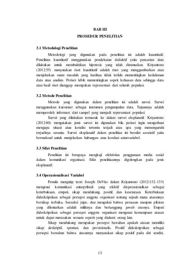 Skripsi Mini Kuantitatif Efektivitas Komunikasi Organisasi Panitia