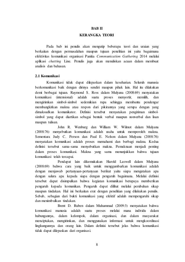 Contoh Skripsi Bab 2 Contoh Soal Dan Materi Pelajaran 8