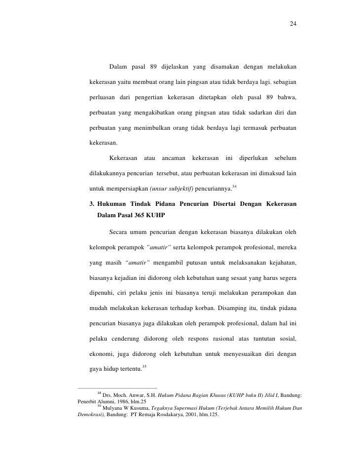 Contoh Skripsi Hukum Pidana Pencurian Pejuang Skripsi