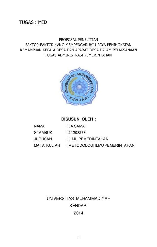 Proposal Penelitian Ilmu Pemerintahan Guru Ilmu Sosial