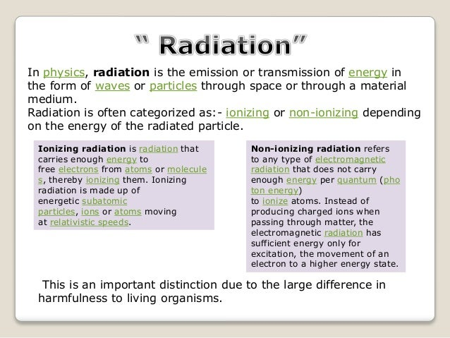 Effect Of Radiation On Reproductive Health