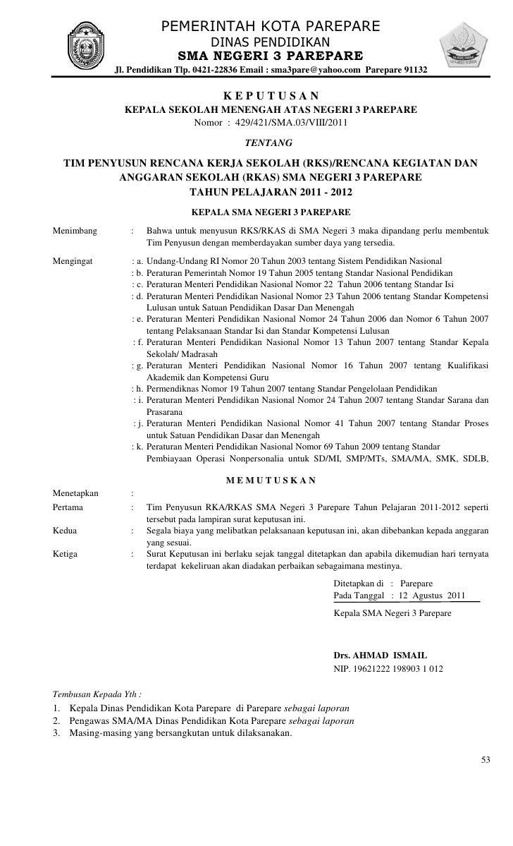 Contoh Sk Tim Pengembang Kurikulum Sd - Revisi Sekolah