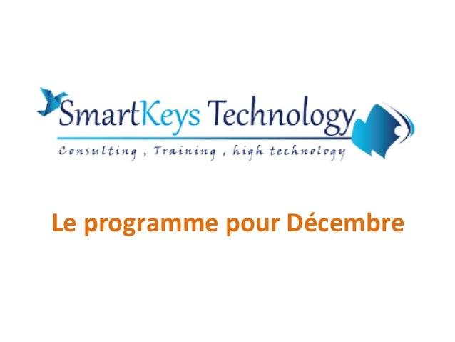 Le programme pour Décembre