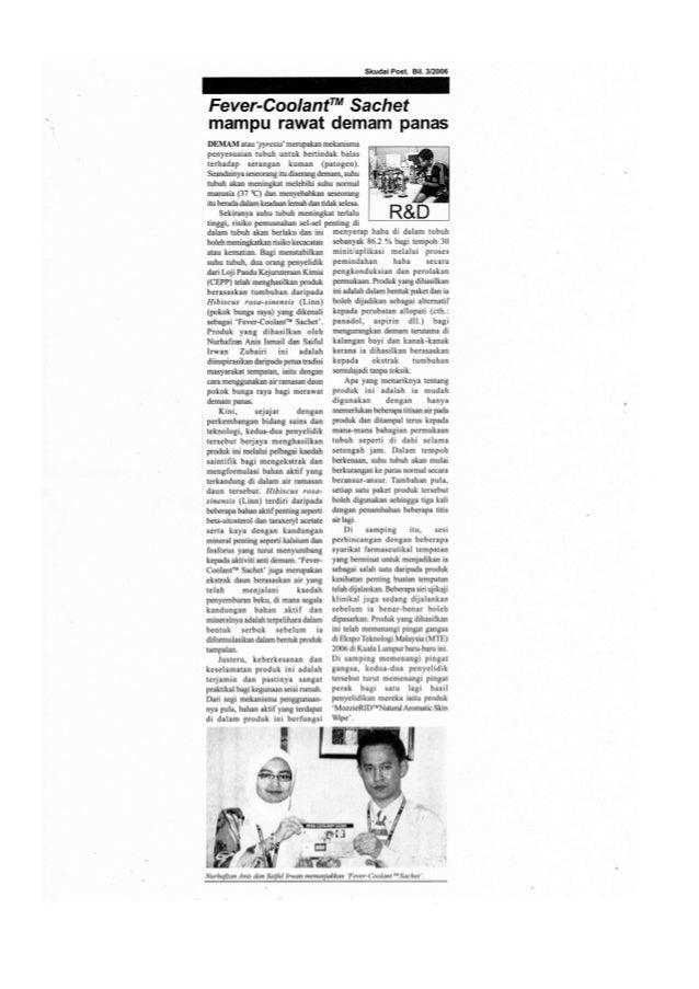 Skudai Post 2006 (ANTI-PYRETIC AGENT)