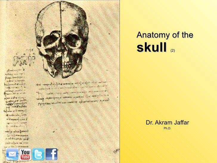 Anatomy of the skull  (2) Dr. Akram Jaffar Ph.D.