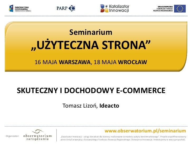 """Tytuł slajdu – wiersz pierwszy                             Seminarium       Tytuł slajdu – wiersz drugi               """"UŻY..."""