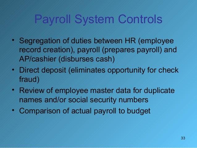 33 33 payroll - Payroll Duties