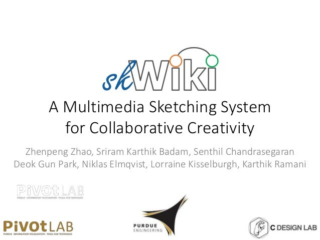 A Multimedia Sketching System for Collaborative Creativity Zhenpeng Zhao, Sriram Karthik Badam, Senthil Chandrasegaran Deo...