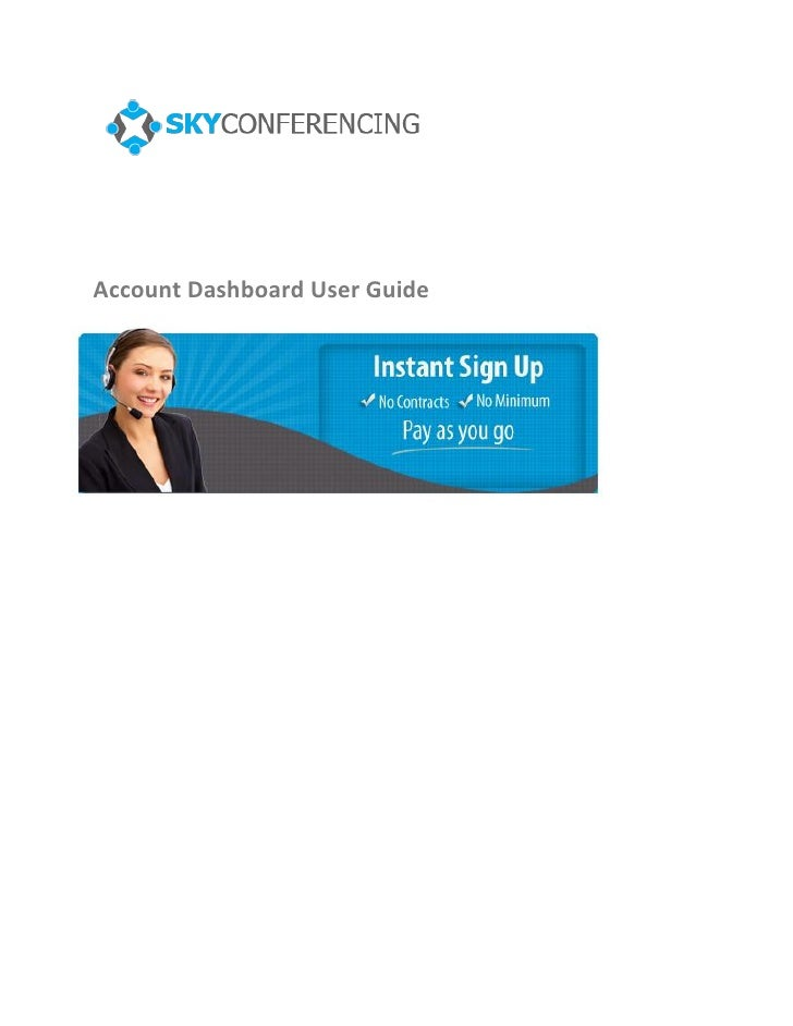 Account Dashboard User Guide