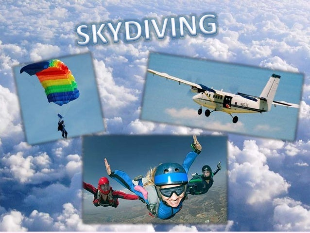 • Skydiving is a sport involving a skydiver jumping down from an airplane while it is flying and parachuting to the ground...