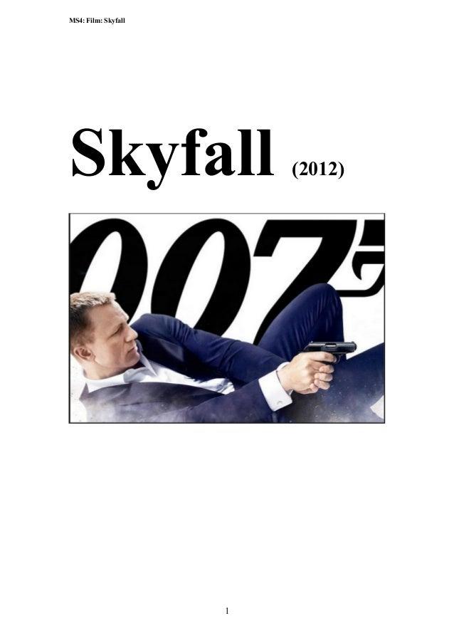 Skyfall booklet