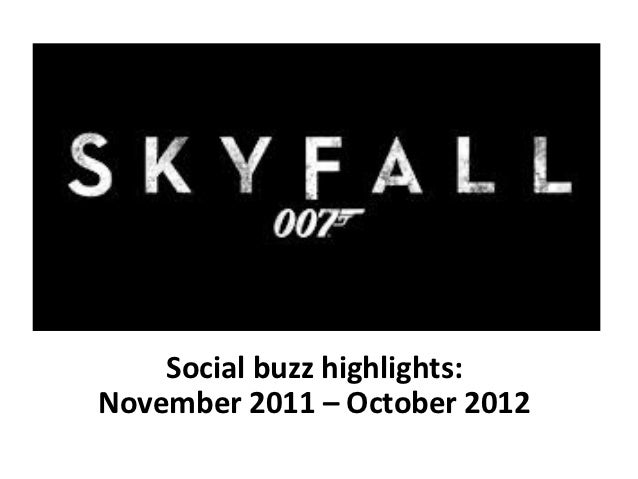 Social buzz highlights:November 2011 – October 2012
