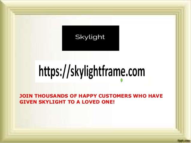 Skylightframe- How does digital photo frame work