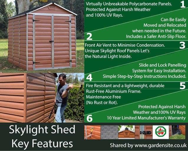 Palram Skylight Shed