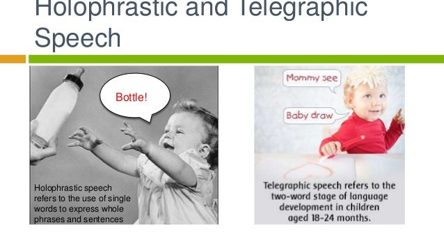 Language – Telegraphic Speech Example
