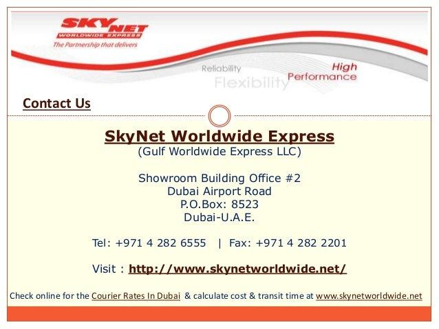 Skynet Courier Tracking Dubai