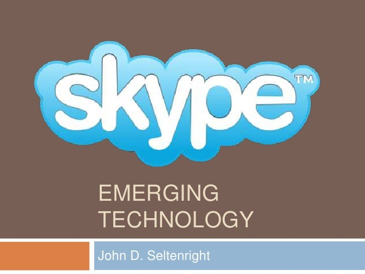 Emerging Technology<br />John D. Seltenright<br />