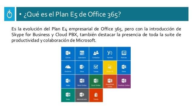 • ¿Qué es el Plan E5 de Office 365? Es la evolución del Plan E4 empresarial de Office 365, pero con la introducción de Sky...
