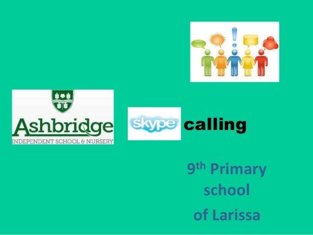 calling 9th Primary school of Larissa