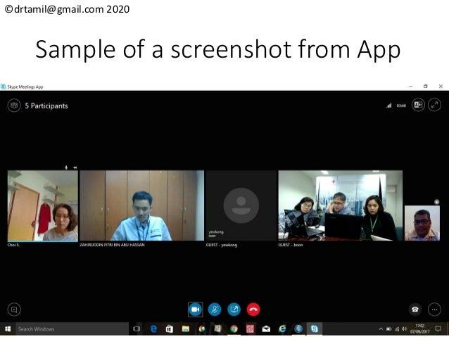 ©drtamil@gmail.com 2020 Sample of a screenshot from App