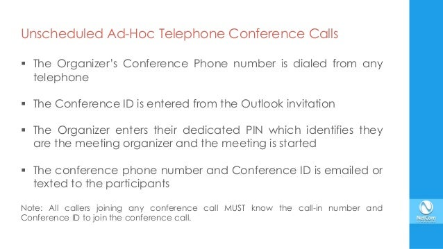 Skype for Business Conference Calls and Meetings