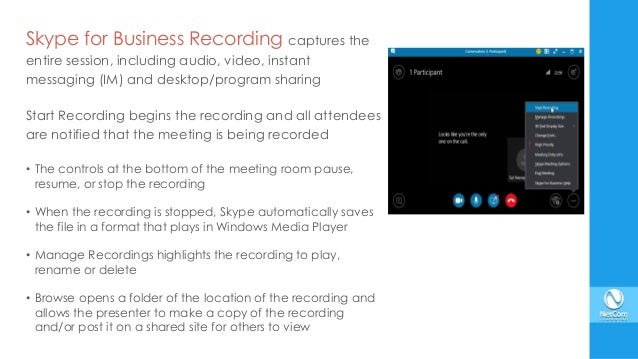 skype meeting recording