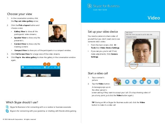 Skype for Business Quick Start Guide - Video