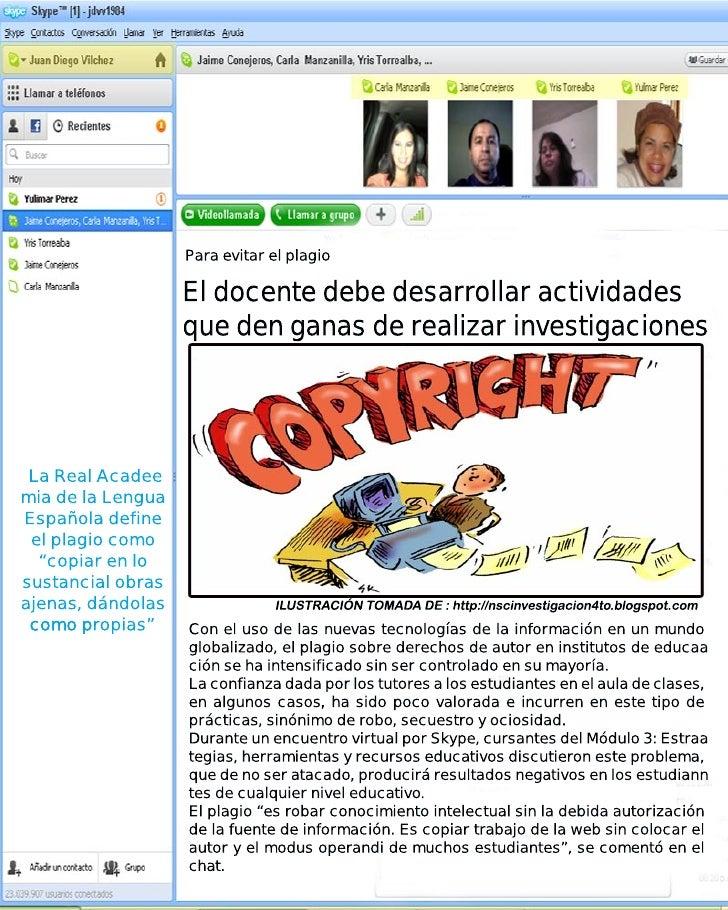 Skype plagio Slide 3