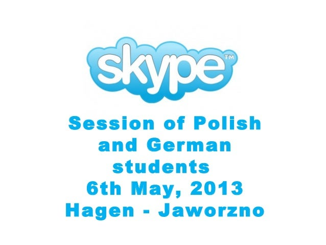 Session of Polish and German students 6th May, 2013 Hagen - Jaworzno